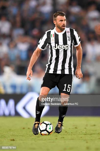 Andrea Barzagli during the Italian Supercup match between Juventus and SS Lazio at Stadio Olimpico on August 13 2017 in Rome Italy