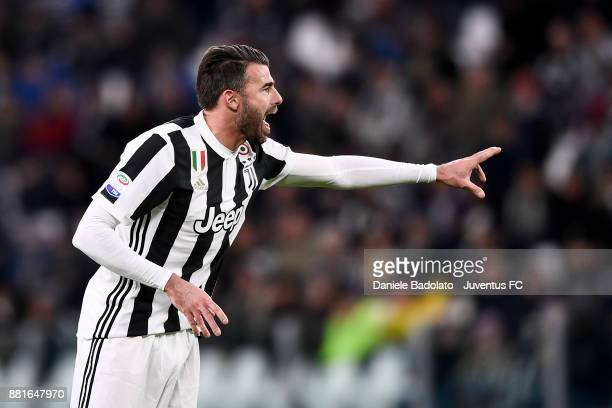 Andrea Barzagli during the Serie A match between Juventus and FC Crotone at Allianz Stadium on November 26 2017 in Turin Italy