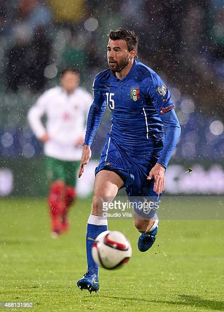 Andrea Barzagli of Italy during the Euro 2016 Qualifier match between Bulgaria and Italy at Vasil Levski National Stadium on March 28 2015 in Sofia...