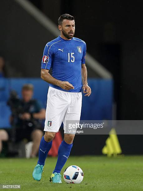 Andrea Barzagli of Italy during the UEFA EURO 2016 Group E group stage match between Italy v Ireland at the Stade PierreMauroy on june 22 2016 in...