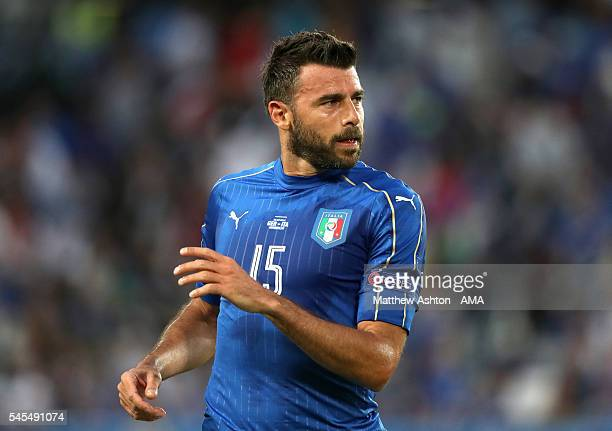 Andrea Barzagli of Italy during the UEFA Euro 2016 quarter final match between Germany and Italy at Stade Matmut Atlantique on July 2 2016 in...