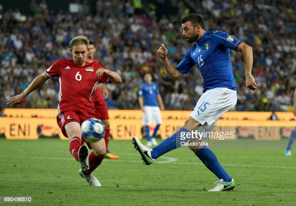 Andrea Barzagli of Italy in action during the FIFA 2018 World Cup Qualifier between Italy and Liechtenstein at Stadio Friuli on June 11 2017 in Udine...