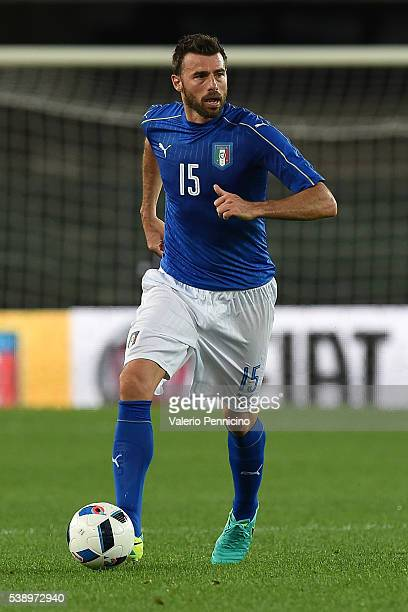 Andrea Barzagli of Italy in action during the international friendly match between Italy and Finland on June 6 2016 in Verona Italy