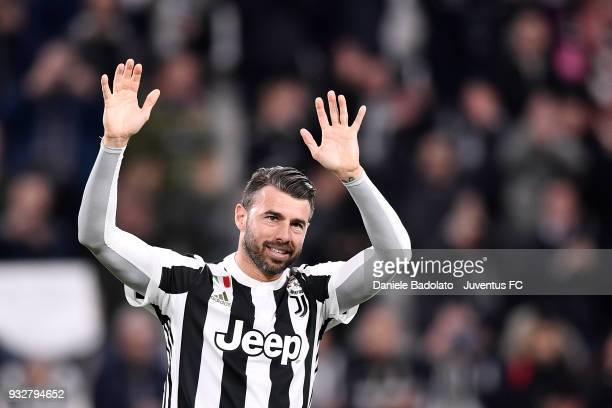 Andrea Barzagli of Juventus during the serie A match between Juventus and Atalanta BC on March 14 2018 in Turin Italy