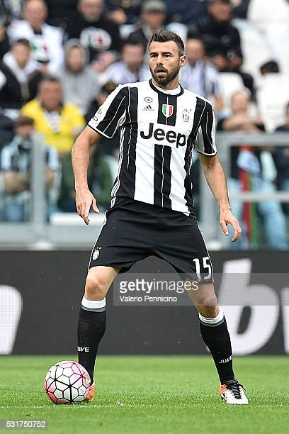 Andrea Barzagli of Juventus FC in action during the Serie A match between Juventus FC and UC Sampdoria at Juventus Arena on May 14 2016 in Turin Italy