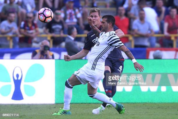 Andrea Barzagli of Juventus FC in action during the Serie A match between Bologna FC and Juventus FC at Stadio Renato Dall'Ara on May 27 2017 in...