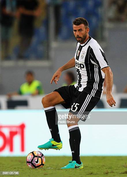 Andrea Barzagli of Juventus FC in action during the Serie A match between SS Lazio and Juventus FC at Stadio Olimpico on August 27 2016 in Rome Italy