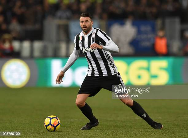 Andrea Barzagli of Juventus FC in action during the serie A match between SS Lazio and Juventus at Stadio Olimpico on March 3 2018 in Rome Italy