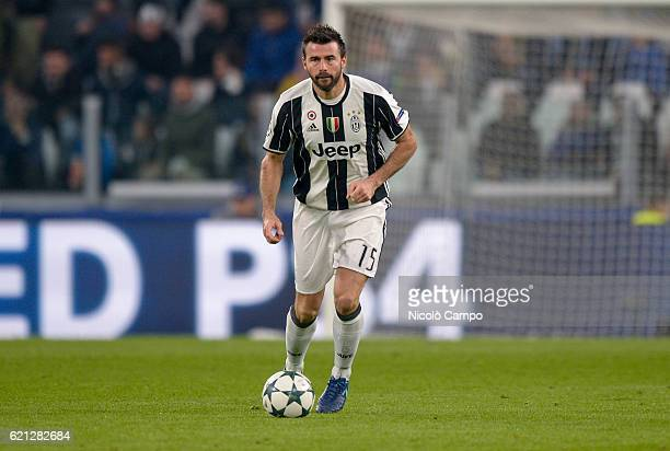 Andrea Barzagli of Juventus FC in action during the UEFA Champions League match between Juventus FC and Olympique Lyonnais at Juventus Stadium on...