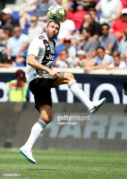 Andrea Barzagli of Juventus in action against Benfica during the International Champions Cup 2018 match between Benfica and Juventus at Red Bull...