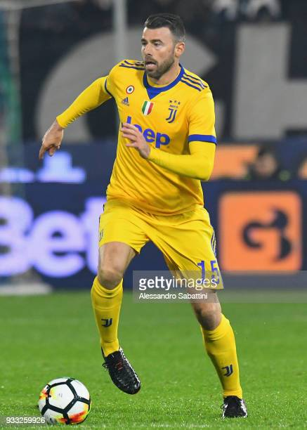 Andrea Barzagli of Juventus in action during the serie A match between Spal and Juventus at Stadio Paolo Mazza on March 17 2018 in Ferrara Italy