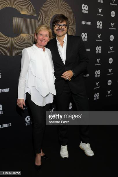 Andrea Beckmann and Kristian Schuller attend the GQ Style Night during Berlin Fashion Week Autumn/Winter 2020 at BRICKS Berlin on January 15, 2020 in...