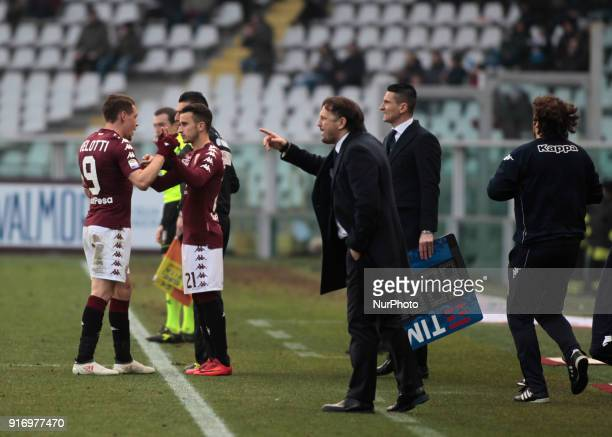 Andrea Belotti and Alejandro Berenguer during the Serie A match between Torino FC and Udinese Calcio at Stadio Olimpico di Torino on February 11 2018...