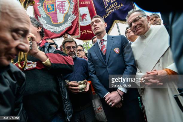 Andrea Belotti during the Annual commemoration of the Great Turin tragedy plane crash against the Basilica of Superga of the Torino FC football team...