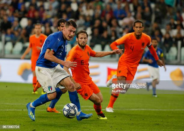 Andrea Belotti during the International Friendly match between Italy v Holland at the Allianz Stadium on June 4 2018 in Turin Italy
