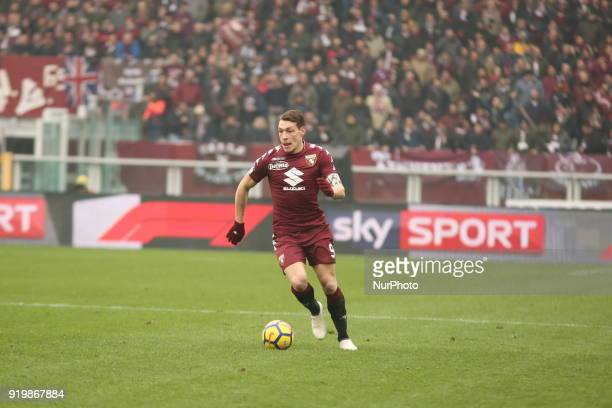 Andrea Belotti during the Serie A football match between Torino FC and Juventus FC at Olympic Grande Torino Stadium on 18 February 2018 in Turin Italy