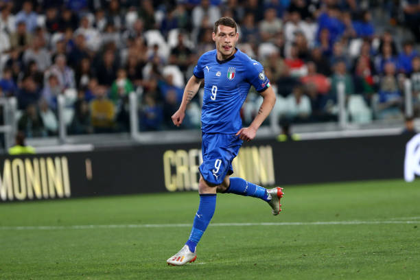 Andrea Belotti of Italy during the 2020 UEFA European...
