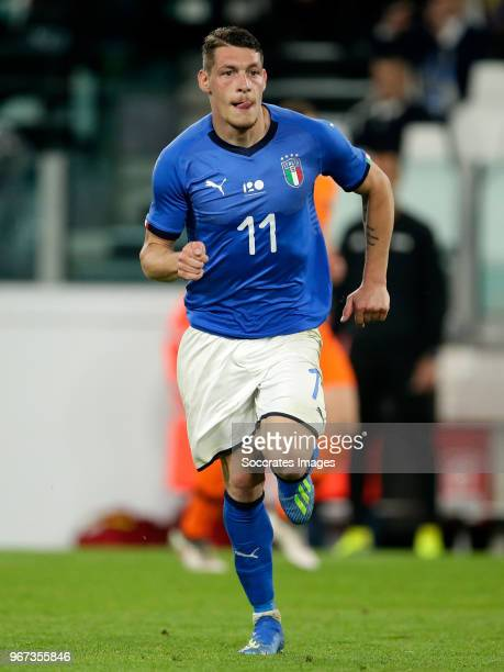 Andrea Belotti of Italy during the International Friendly match between Italy v Holland at the Allianz Stadium on June 4 2018 in Turin Italy