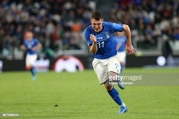 Andrea Belotti of Italy in action during the International Friendly match between Italy and Netherlands The match ends in a 11 draw