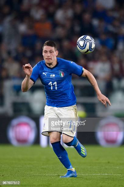 Andrea Belotti of Italy in action during the International Friendly football match between Italy and Netherlands The match ended in a 11 tie