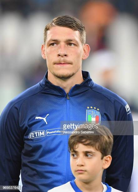 Andrea Belotti of Italy looks on before during the International Friendly match between Italy and Netherlands at Allianz Stadium on June 4 2018 in...