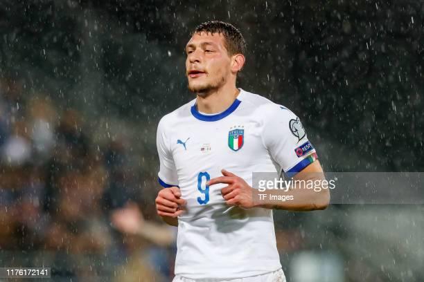 Andrea Belotti of Italy looks on during the UEFA Euro 2020 qualifier between Liechtenstein and Italy on October 15, 2019 in Vaduz, Liechtenstein.
