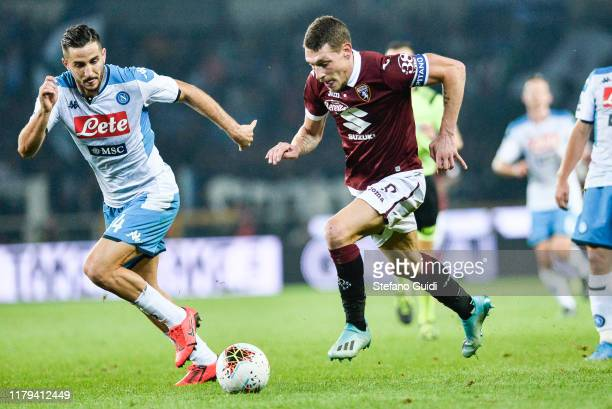 Andrea Belotti of Torino during the Serie A match between Torino FC and SSC Napoli at Stadio Olimpico di Torino on October 06 2019 in Turin Italy