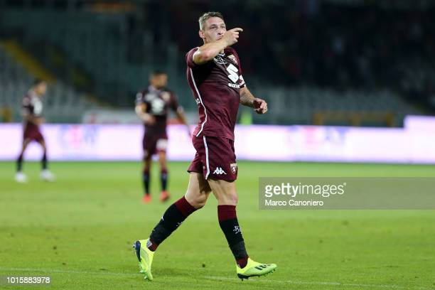 Andrea Belotti of Torino FC celebrate after scoring a goal during the Italia Tim Cup match between Torino Fc and Cosenza Calcio