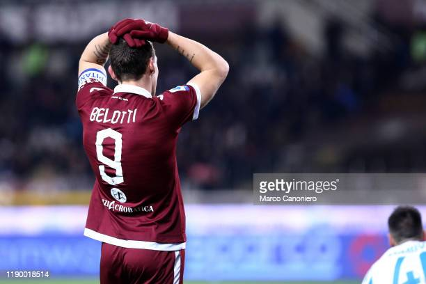 Andrea Belotti of Torino FC despairs during the the Serie A match between Torino Fc and Spal Spal wins 21 over Torino Fc