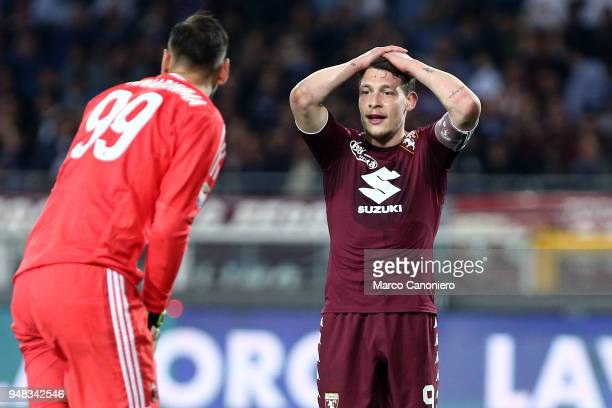 Andrea Belotti of Torino FC desperate during the Serie A football match between Torino Fc and Ac Milan The match end in a tie 11