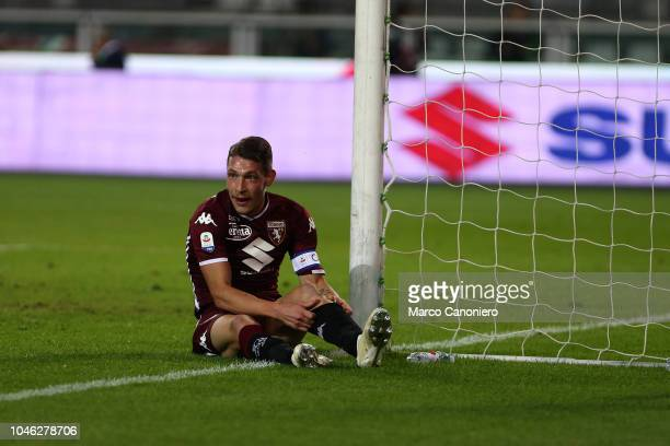 Andrea Belotti of Torino FC during the Serie A football match between Torino Fc and Frosinone Calcio Torino Fc wins 32 over Frosinone Calcio