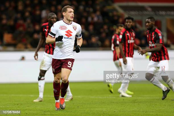 Andrea Belotti of Torino FC during the Serie A football match between Ac Milan and Torino Fc The match end in a tie 00