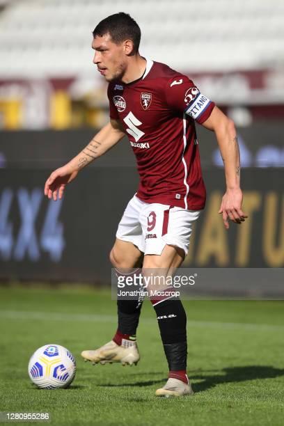 Andrea Belotti of Torino FC during the Serie A match between Torino FC and Cagliari Calcio at Stadio Olimpico di Torino on October 18 2020 in Turin...