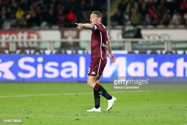 Andrea Belotti of Torino FC gestures during the Serie A football match between Torino Fc and Frosinone Calcio Torino Fc wins 32 over Frosinone Calcio