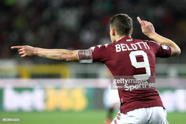 Andrea Belotti of Torino FC gestures during the Serie A football match between Torino Fc and Ss Lazio SS Lazio wins 10 over Torino Fc