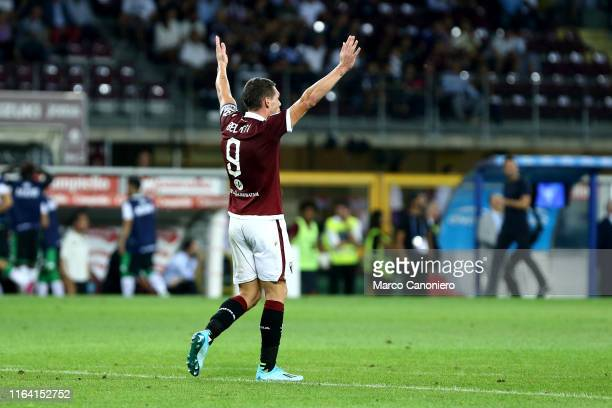 Andrea Belotti of Torino FC gestures during the the Serie A match between Torino Fc and Us Sassuolo Calcio Torino Fc wins 21 over Us Sassuolo Calcio