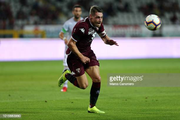 Andrea Belotti of Torino FC in action during the Italia Tim Cup match between Torino Fc and Cosenza Calcio
