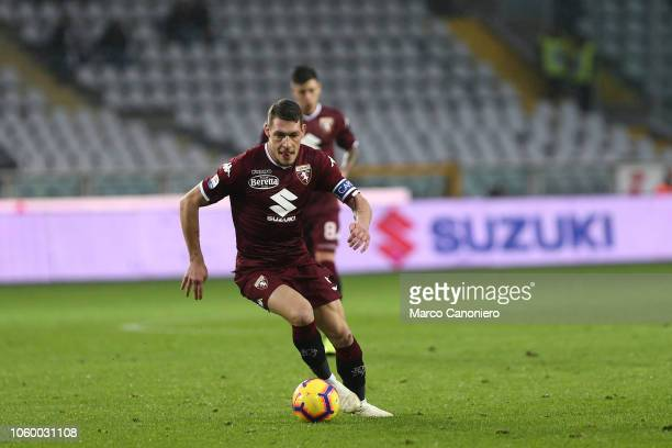 Andrea Belotti of Torino FC in action during the Serie A football match between Torino Fc and Parma Calcio Parma Calcio wins 21 over Torino Fc