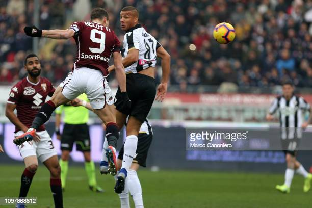 Andrea Belotti of Torino FC in action during the Serie A football match between Torino Fc and Udinese Calcio Torino Fc wins 10 over Udinese Calcio