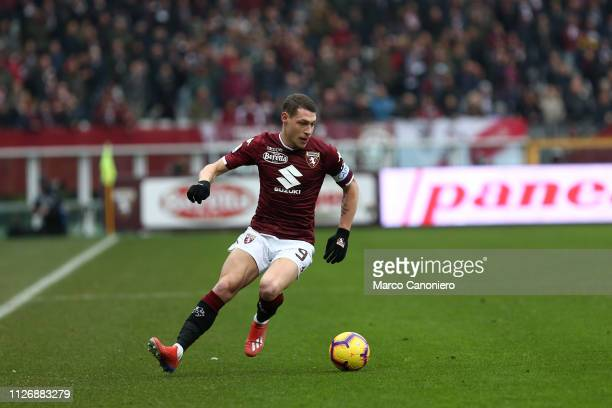 Andrea Belotti of Torino FC in action during the Serie A football match between Torino Fc and Atalanta Bergamasca Calcio Torino Fc wins 20 over...