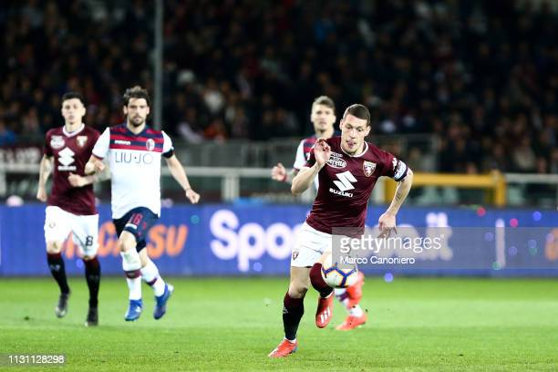 Andrea Belotti of Torino FC in action during the Serie A football match between Torino Fc and Bologna Fc Bologna Fc wins 32 over Torino Fc