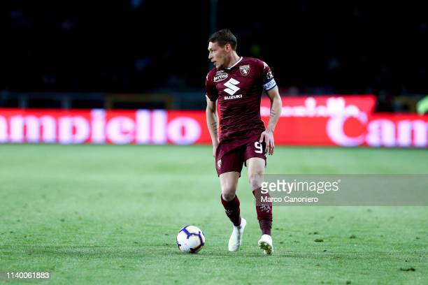 Andrea Belotti of Torino FC in action during the Serie A football match between Torino Fc and Ac Milan Torino Fc wins 20 over Ac Milan