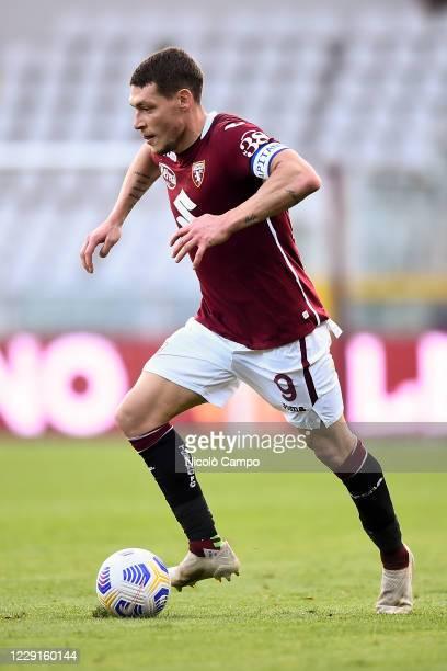 Andrea Belotti of Torino FC in action during the Serie A football match between Torino FC and Cagliari Calcio Cagliari Calcio won 32 over Torino FC