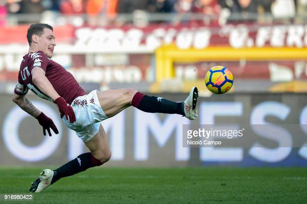 Andrea Belotti of Torino FC in action during the Serie A football match between Torino FC and Udinese Calcio Torino FC won 20 over Udinese Calcio