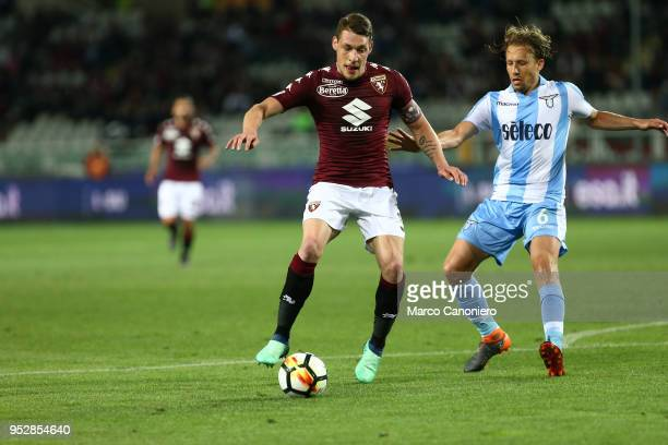 Andrea Belotti of Torino FC in action during the Serie A football match between Torino Fc and Ss Lazio SS Lazio wins 10 over Torino Fc