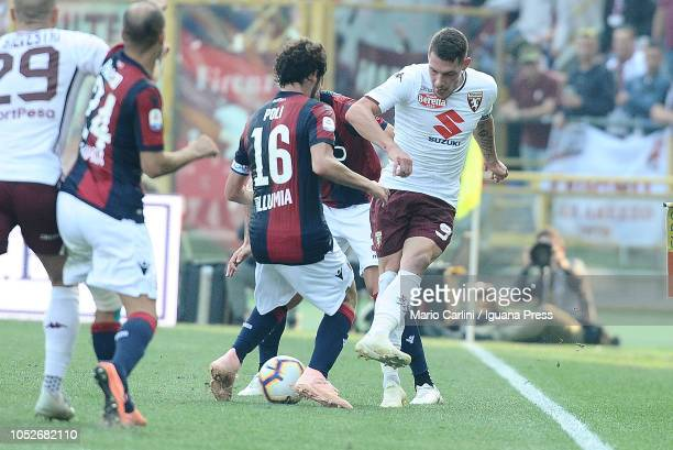 Andrea Belotti of Torino FC in action during the Serie A match between Bologna FC and Torino FC at Stadio Renato Dall'Ara on October 21 2018 in...