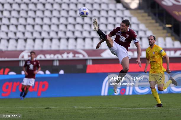 Andrea Belotti of Torino FC in action during the Serie A match between Torino Fc and Cagliari Calcio Cagliari Calcio wins 32 over Torino Fc