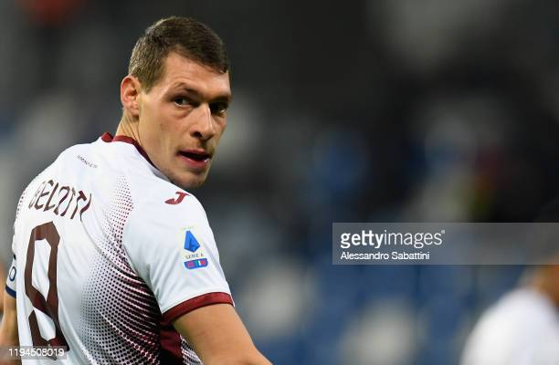 Andrea Belotti of Torino FC looks on during the Serie A match between US Sassuolo and Torino FC at Mapei Stadium Città  del Tricolore on January 18...