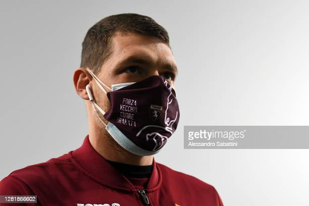 Andrea Belotti of Torino FC looks on during the Serie A match between US Sassuolo and Torino FC at Mapei Stadium Città del Tricolore on October 23...