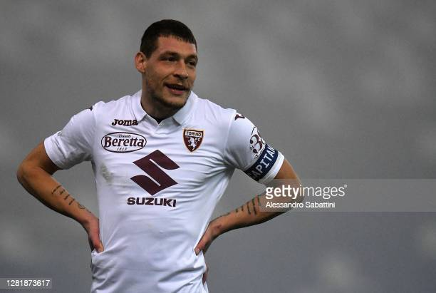 Andrea Belotti of Torino FC reacts during the Serie A match between US Sassuolo and Torino FC at Mapei Stadium Città del Tricolore on October 23 2020...
